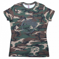 Whiphand6 Green Camo - T-Shirt - L - Girly