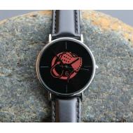 Tick Tock Watch Red Whip Hand 6 – Wrist Watch