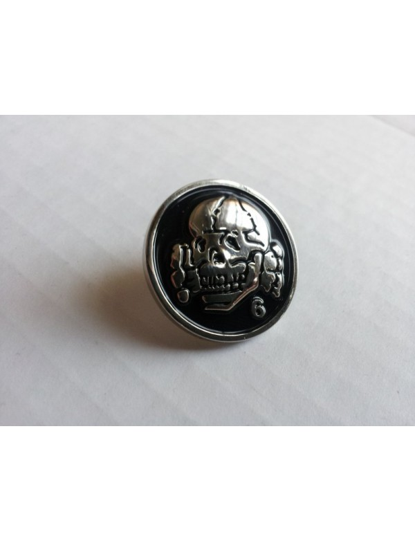 Totenkopf6 - Black Steel Pin