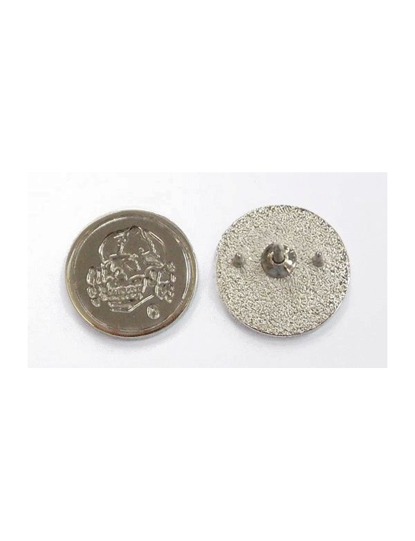 Totenkopf6 - Silver Steel Pin