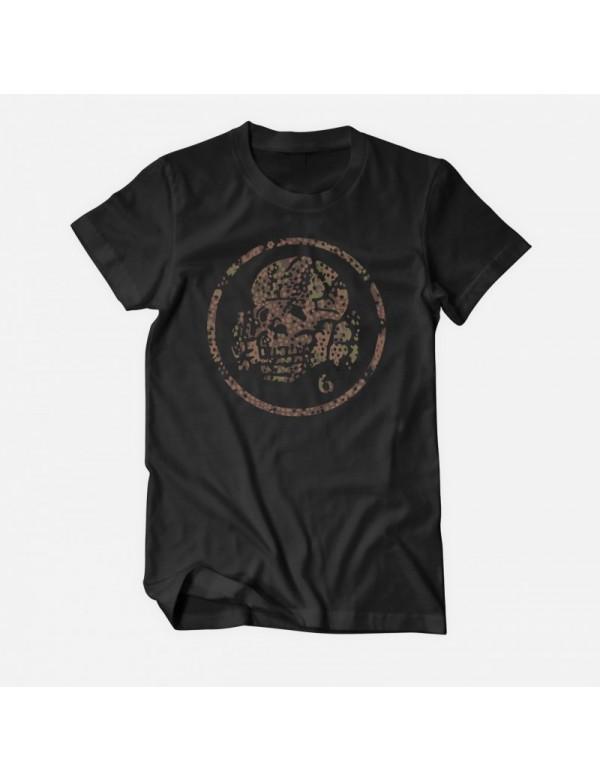 Totenkopf6 Camo - Black T-Shirt - L