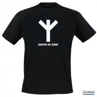 Algiz Rune - Black T-Shirt - S