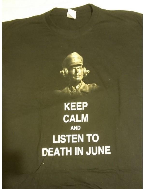 Keep Calm & Listen To... - Black T-Shirt - L