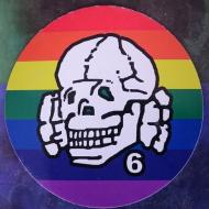 Sticker - Totenkopf6 - Rainbow