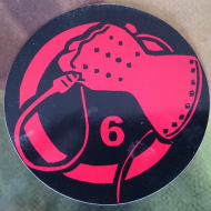 Sticker - Whiphand6 Red - Black