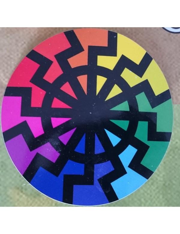 Sticker - BlackSun - Rainbow