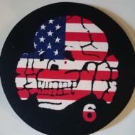 Slipmat - Totenkopf6 US Flag
