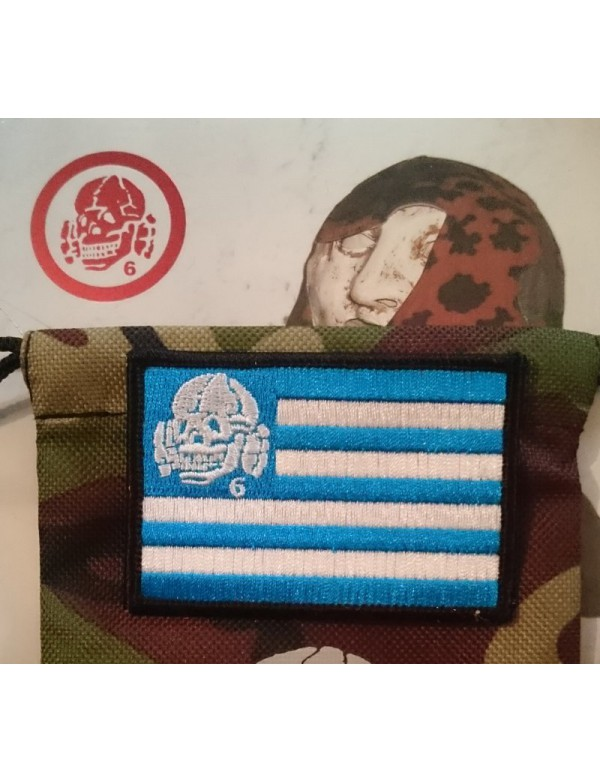 Patch - GREECE Flag with Totenkopf6
