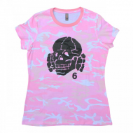 Totenkopf6 Pink Camo - T-Shirt - L - Girly