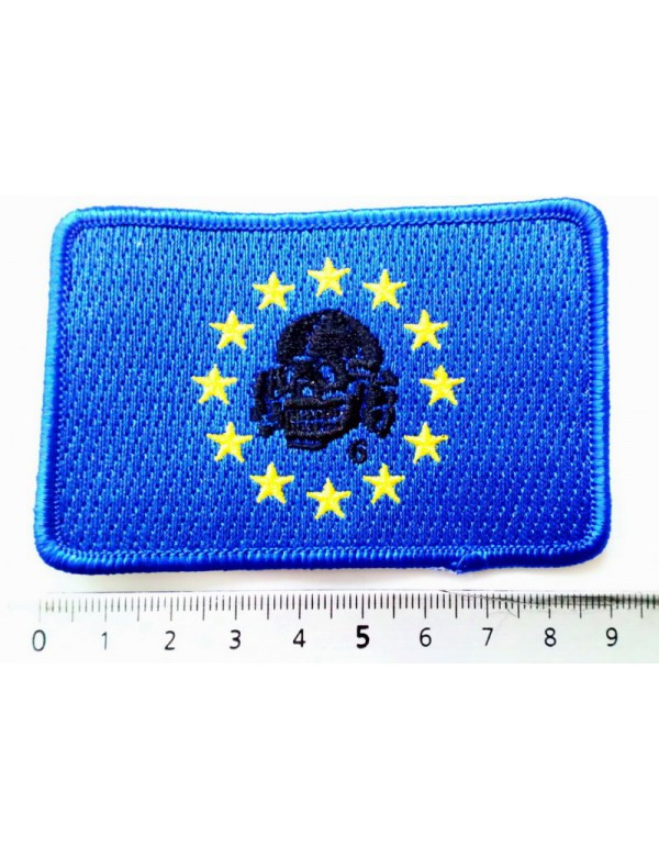 Patch - Rectangle European Flag & Black Totenkopf6