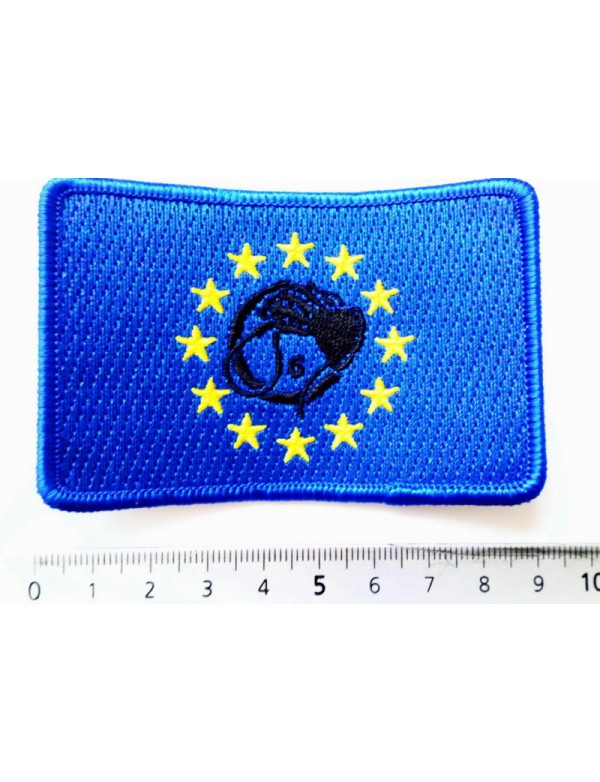 Patch - Rectangle European Flag & Black Whiphand6