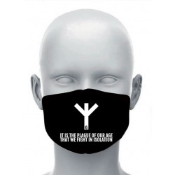 Face mask - Life Rune 6 / It Is The Plague Of Our Age... / You Must Conform!